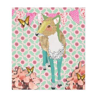 Chèrement art floral de toile de cerfs communs toile tendue