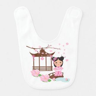 Cherryblossom de fleur de Sakura - fille au Japon Bavoir Pour Bébé