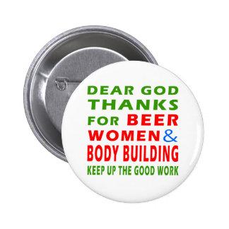 Chers mercis de Dieu des femmes et de la musculati Badges