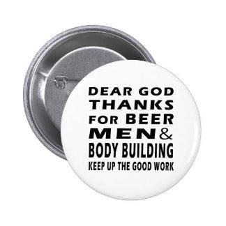 Chers mercis de Dieu des hommes et de la musculati Badges