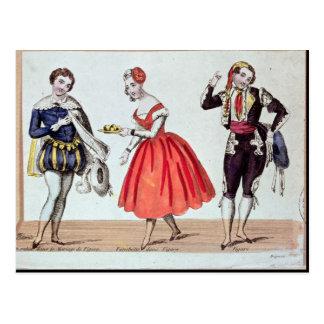 Cherubino, Fanchette et Figaro Carte Postale