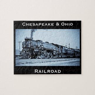 Chesapeake vintage et moteur de train de chemin de puzzle