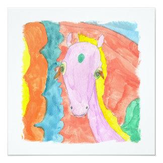 Cheval à ailes par poney de licorne d'Alicorn Carton D'invitation 13,33 Cm
