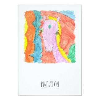 Cheval à ailes par poney de licorne d'Alicorn Carton D'invitation 8,89 Cm X 12,70 Cm