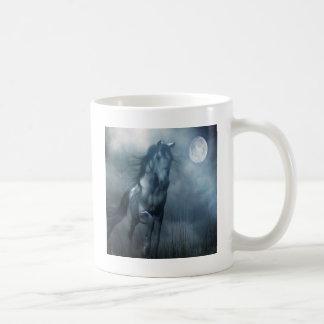 Cheval animal abstrait de clair de lune mug