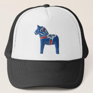 Cheval bleu de Dala de Suédois Casquette