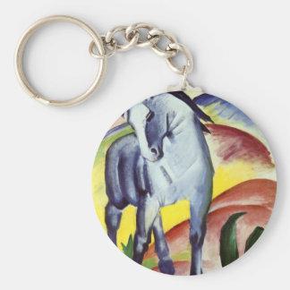 Cheval bleu porte-clés