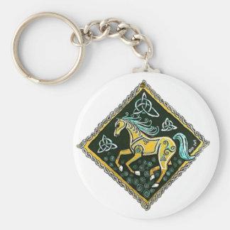 Cheval celtique porte-clé rond