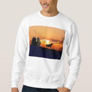 cheval courant - cheval de coucher du soleil - sweatshirt