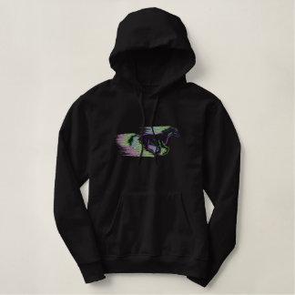 Cheval courant sweatshirt à capuche avec broderie