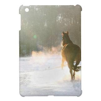 Cheval dans la neige coques pour iPad mini