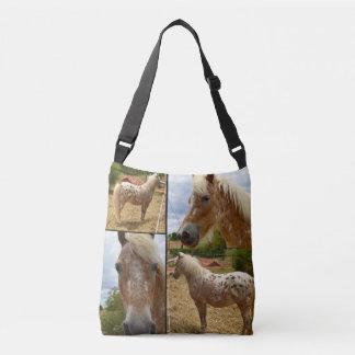 Cheval d'Appaloosa, sac de Crossbody de collage de