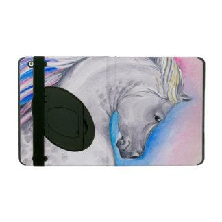 Cheval d'Arabe d'arc-en-ciel Étui iPad