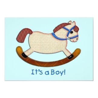 Cheval de basculage c'est un garçon carton d'invitation  12,7 cm x 17,78 cm
