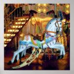 Cheval de carrousel poster