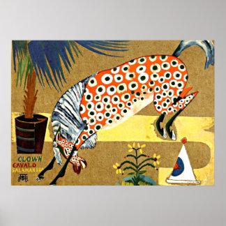 Cheval de clown, Salamandra - art de Souza-Cardoso Posters