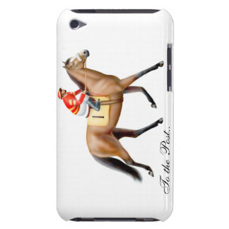 Cheval de course allant signaler la caisse de poin coque iPod Case-Mate