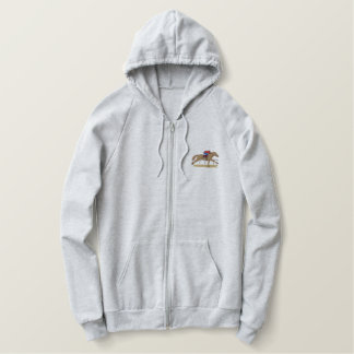 Cheval de course sweatshirt à capuche brodé