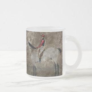 Cheval de course vintage de pur sang tasses à café