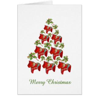 Cheval de Dala pensant à vous carte de Noël
