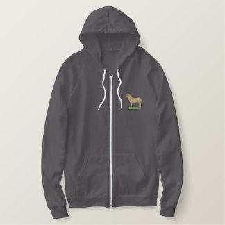 Cheval de fjord pull à capuche brodé