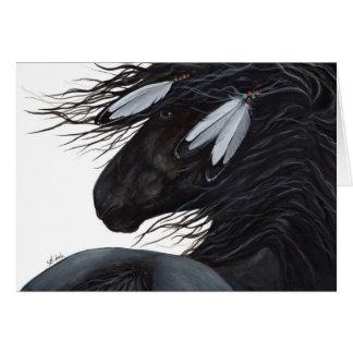 Cheval de plume de Natif américain par BiHrLe Cartes