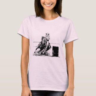 Cheval d'emballage de baril t-shirt