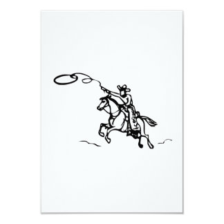 Cheval d'équitation de cowboy avec le lasso faire-part personnalisé