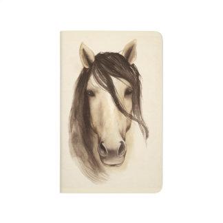 Cheval des animaux | de grange d'aquarelle carnet de poche