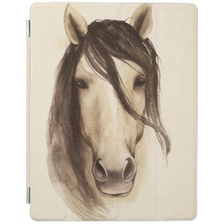 Cheval des animaux   de grange d'aquarelle protection iPad