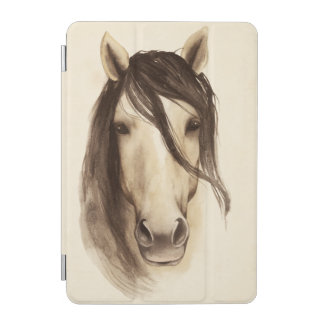 Cheval des animaux   de grange d'aquarelle protection iPad mini