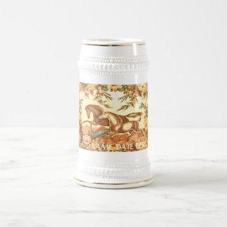 Cheval équestre vintage Stein ou tasse de voyage