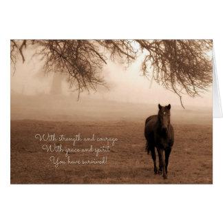 Cheval et brouillard de sensation de fibromyalgie cartes