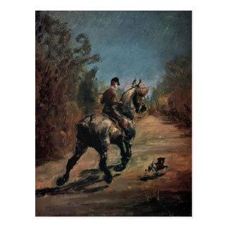 Cheval et cavalier de Henri Lautrec- avec un petit Cartes Postales