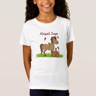 Cheval et T-shirt personnalisés de citrouilles