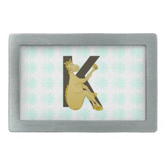 Cheval flexible du monogramme K personnalisé Boucles De Ceinture Rectangulaires