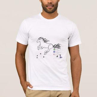 Cheval galopant à gauche (guerre biologique) t-shirt
