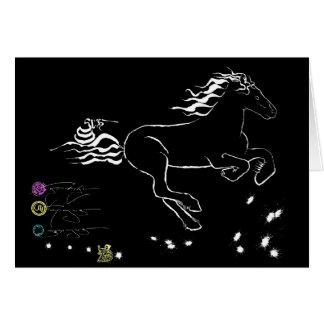 Cheval galopant juste (wb) [carte] cartes
