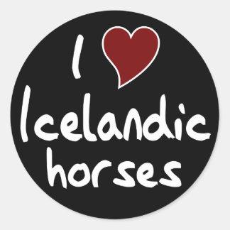 Cheval islandais sticker rond