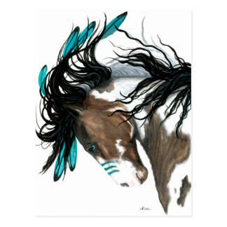 Cheval majestueux de carte postale de Pinto par