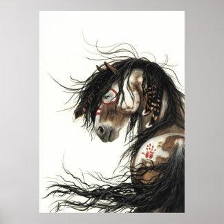 Cheval majestueux de Pinto de mustang par Posters