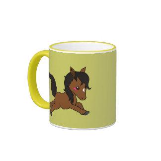 Cheval mignon de bébé mug ringer