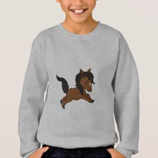 Cheval mignon de bébé sweatshirt