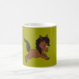 Cheval mignon de bébé mug magique