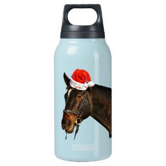 Cheval père Noël - cheval de Noël - Joyeux Noël Bouteilles Isotherme