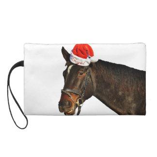 Cheval père Noël - cheval de Noël - Joyeux Noël Pochettes Avec Dragonne