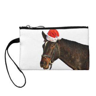 Cheval père Noël - cheval de Noël - Joyeux Noël Porte-monnaie