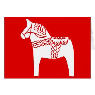Cheval rouge de Dala Carte De Vœux