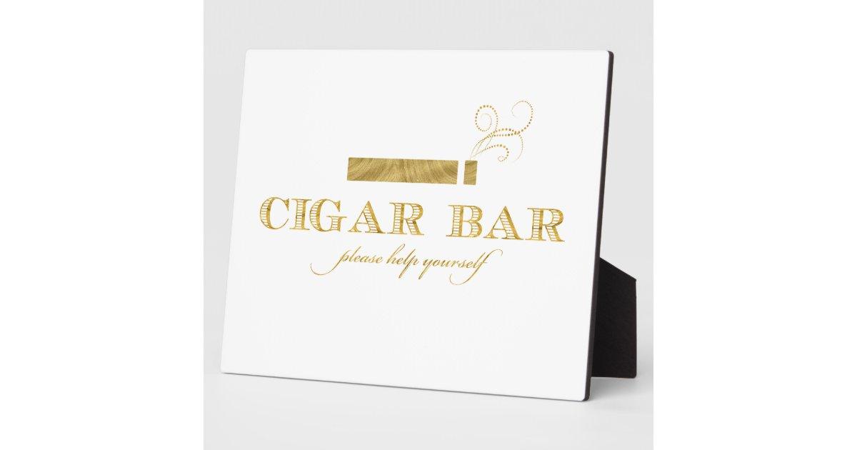 Chevalet de tableau de signe de barre de cigare plaque d for Delta 0 tableau de signe