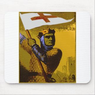 Chevalier avec le drapeau tapis de souris